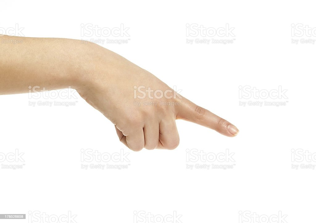 Hand sign isolated on white royalty-free stock photo