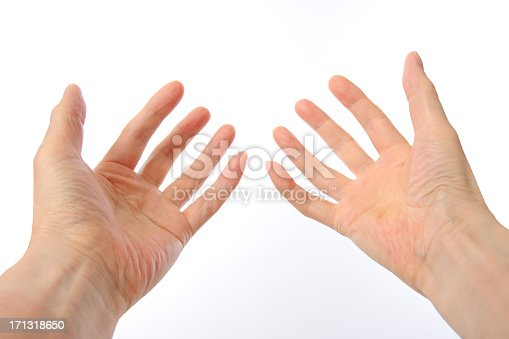 182925103 istock photo Hand sign of a open against white background 171318650