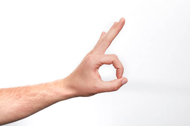 OK , Hand sign stock photo