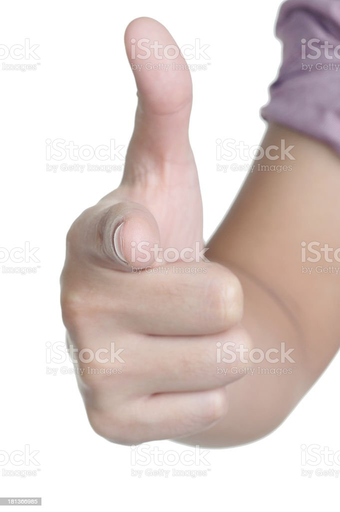 hand sign posture direct isolated royalty-free stock photo