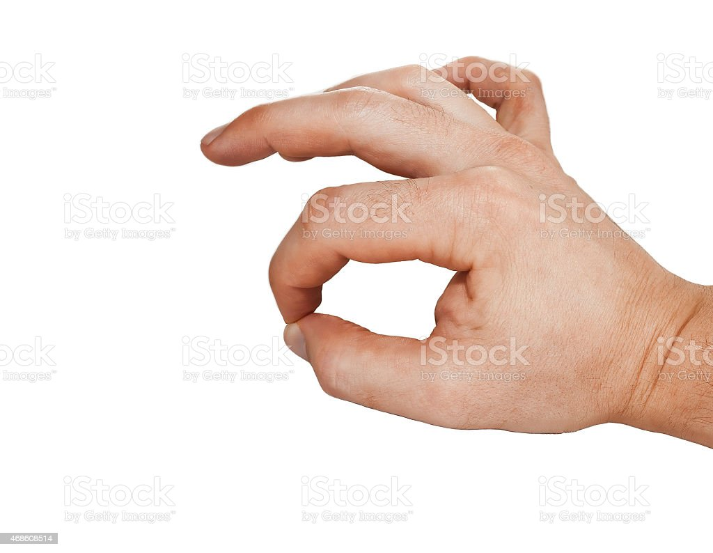 hand sign symbolizing approval stock photo