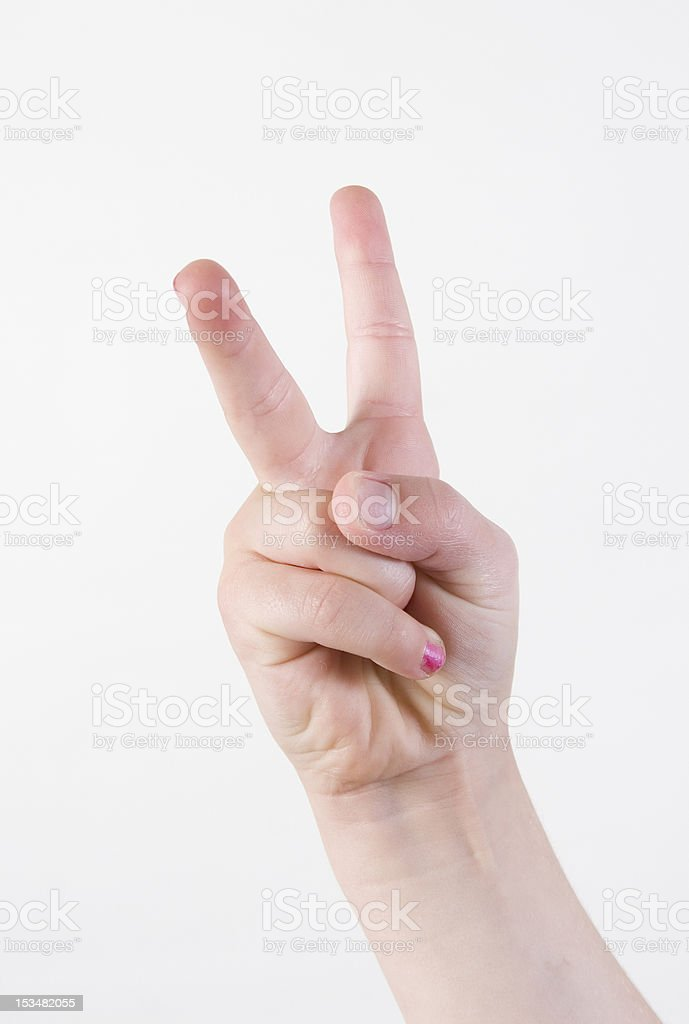 hand sign  Two royalty-free stock photo