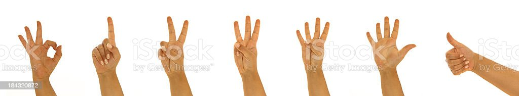 Hand signs stock photo