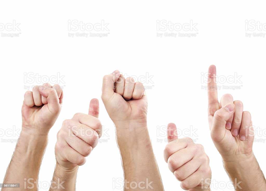 Hand Signs royalty-free stock photo