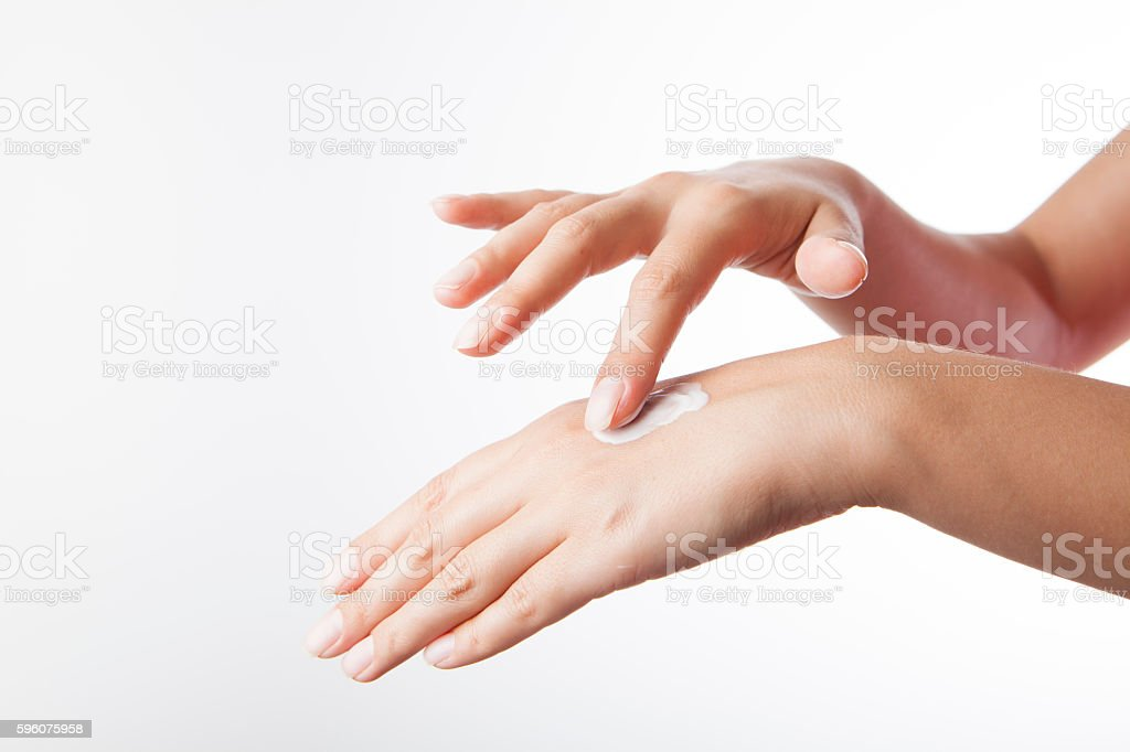 Hand skin care royalty-free stock photo