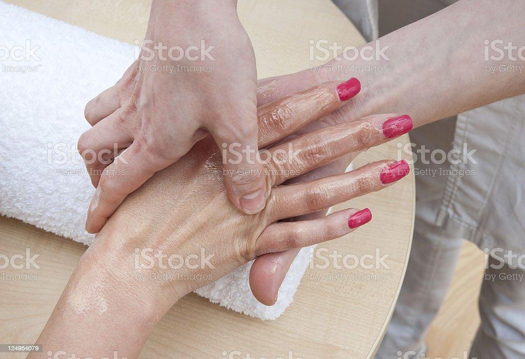 hand skin treatment royalty-free stock photo