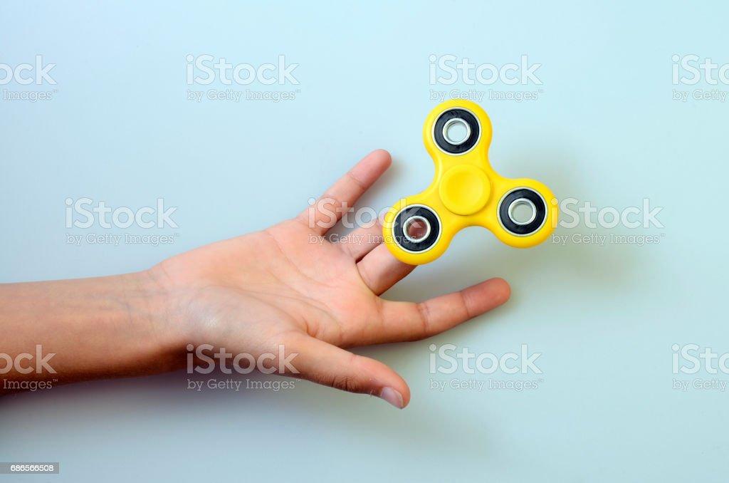 Hand spinner, friemelen hand speelgoed royalty free stockfoto