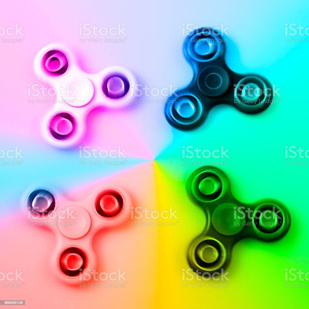 Hand spinner, fidgeting hand toy foto stock royalty-free