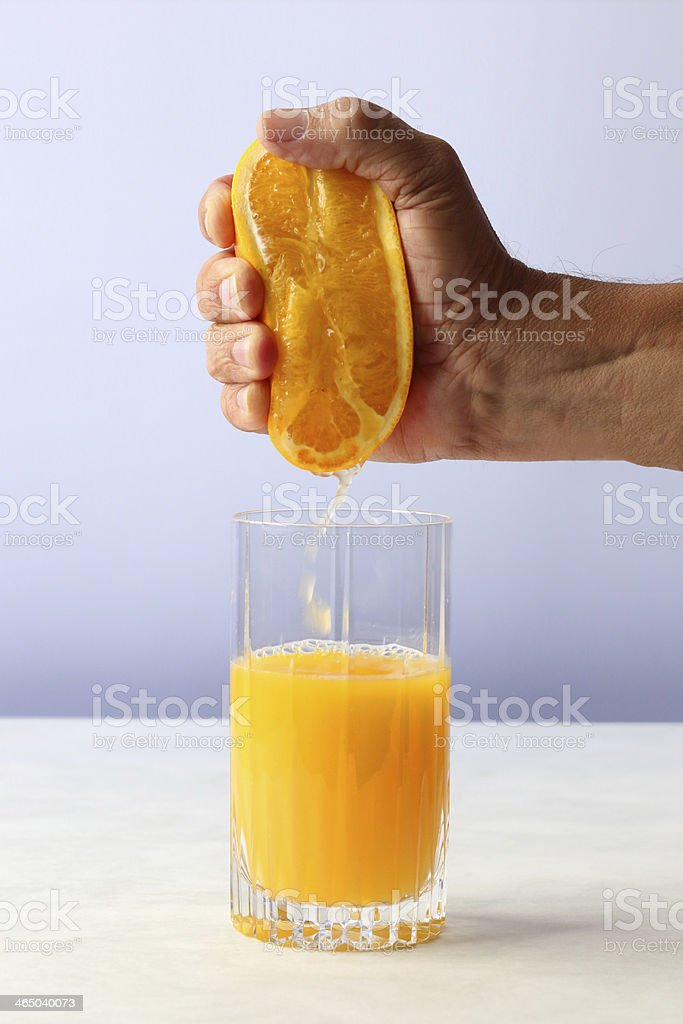 Hand Squeezed Orange Juice stock photo