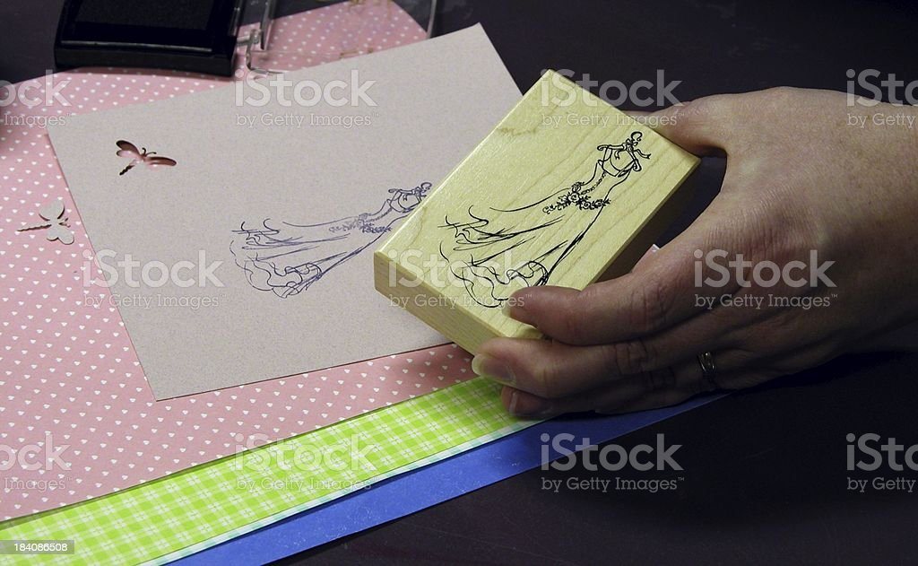 Hand stamping royalty-free stock photo