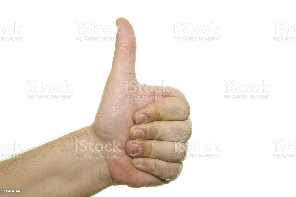 Hand success sign royalty-free stock photo