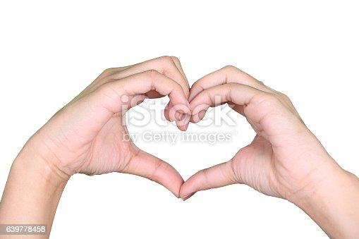 istock hand symbol of love for Valentine Day 639778458