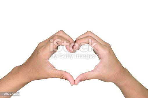 istock hand symbol of love for Valentine Day 639778466