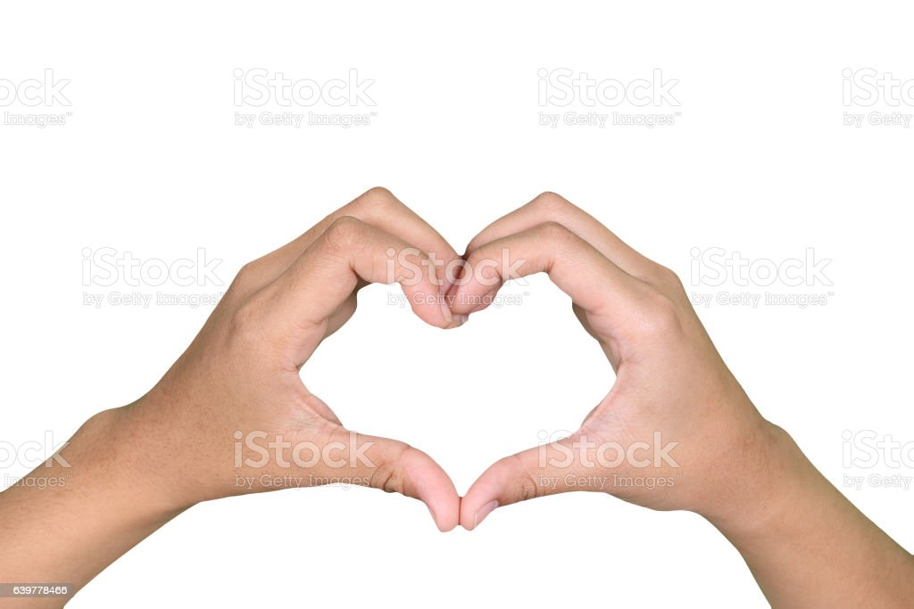 hand symbol of love for Valentine Day stock photo