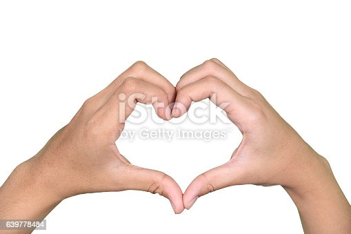 istock hand symbol of love for Valentine Day 639778484
