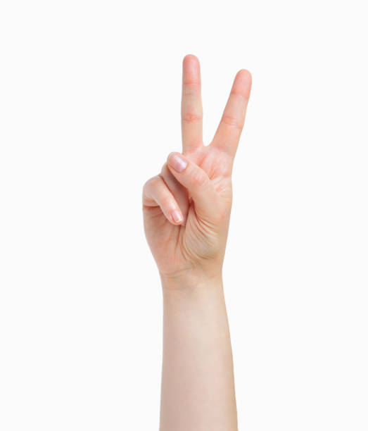 hand symbol - symbols of peace stock pictures, royalty-free photos & images