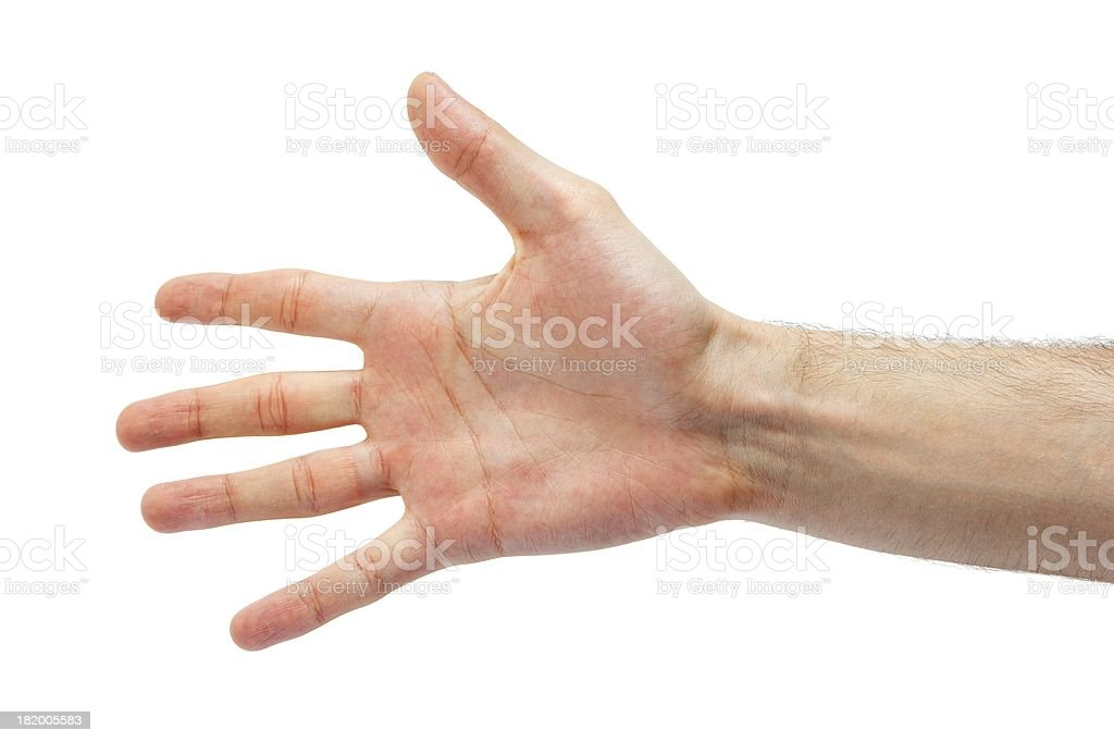 Hand Symbol That Means Five On White Background Stock Photo More