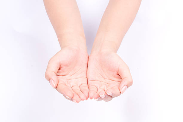hand symbols join two cupped hands and open hands hopefully – Foto