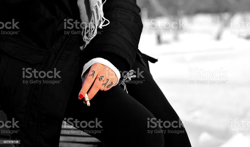 Hand Tattoo Acab Stock Photo Download Image Now Istock