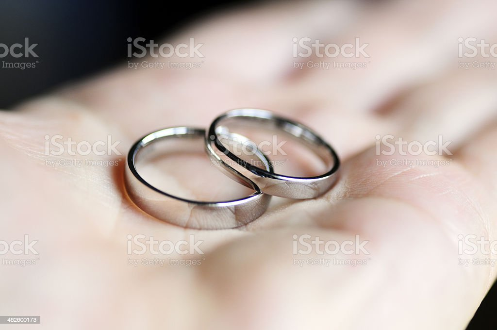 Hand the rings stock photo