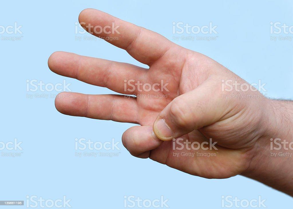 hand : three royalty-free stock photo