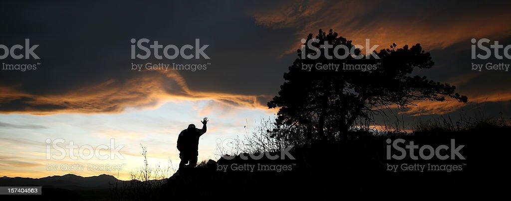 Hand to Heaven royalty-free stock photo