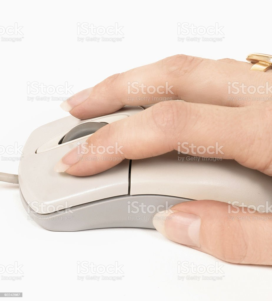 Hand to mouse royalty-free stock photo