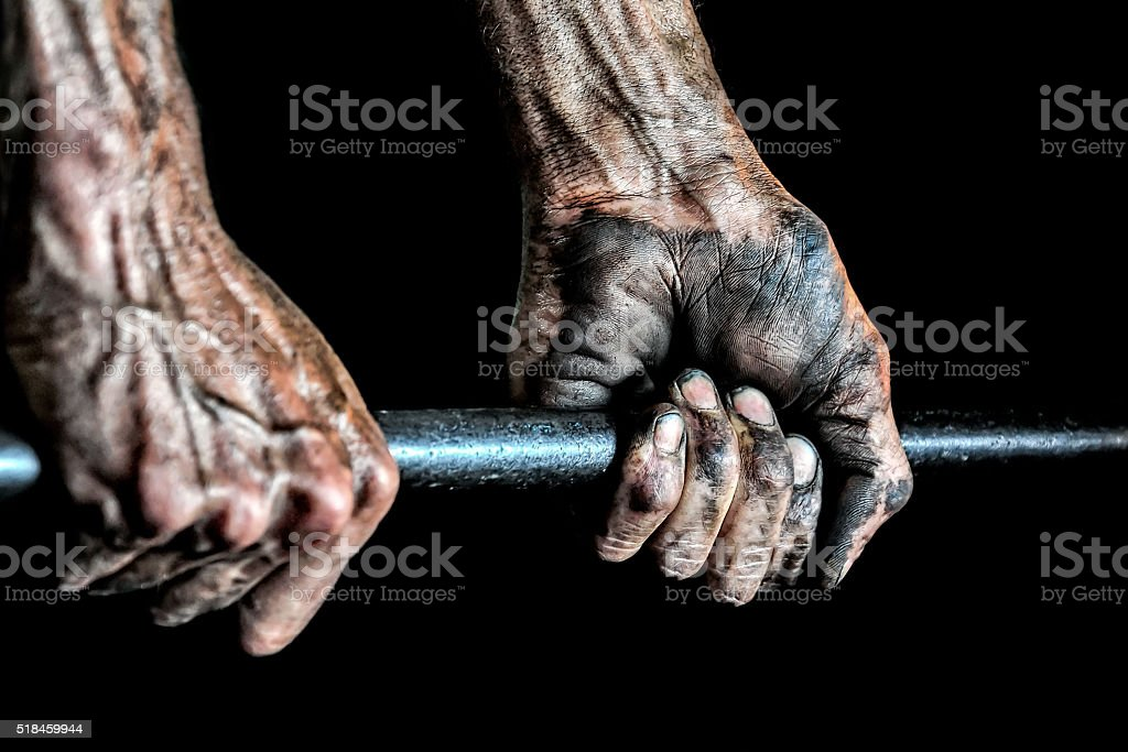 Hand to Work stock photo
