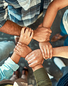 istock Hand together we can do this no matter what 965499134