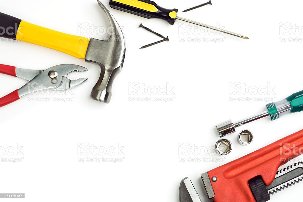 Hand Tools Frame stock photo
