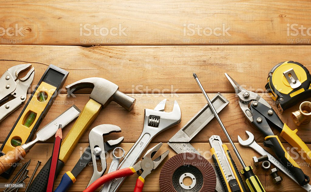 hand tools stock photo