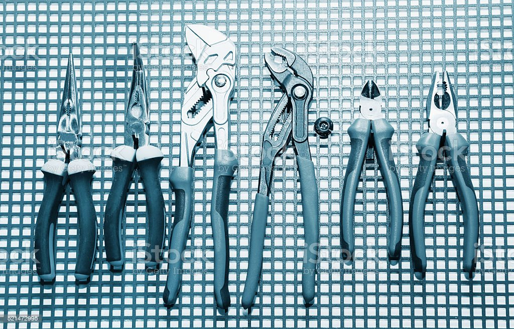 Hand Tools Set stock photo