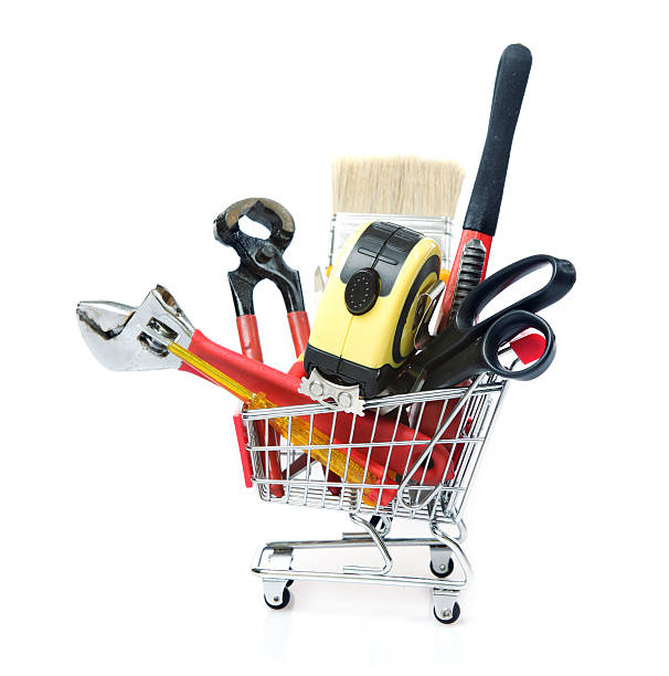 Hand tools Shopping stock photo