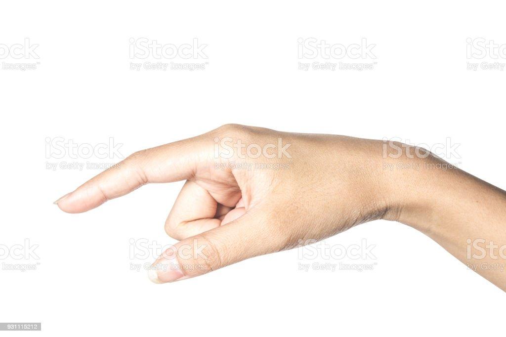 El dokunmadan veya bir şey için işaret - Royalty-free Adamlar Stok görsel