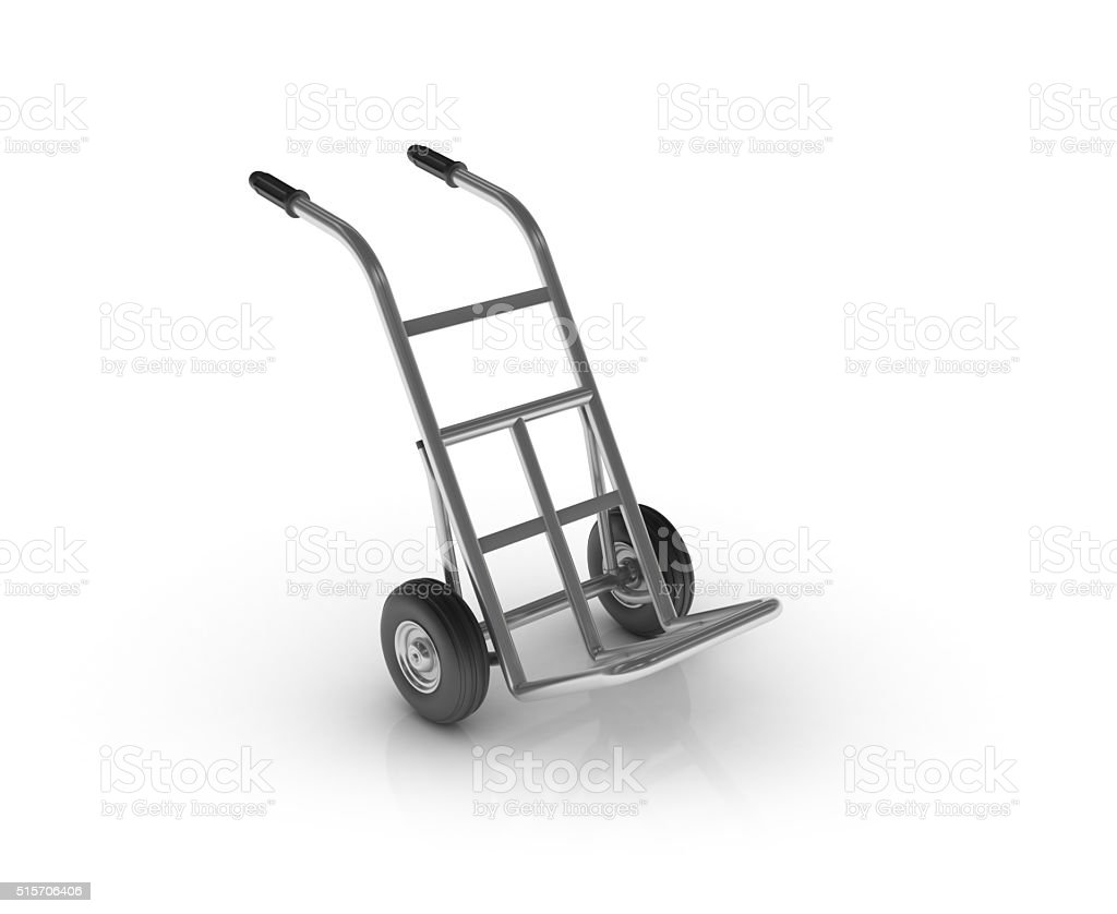 Hand Truck on White Background stock photo