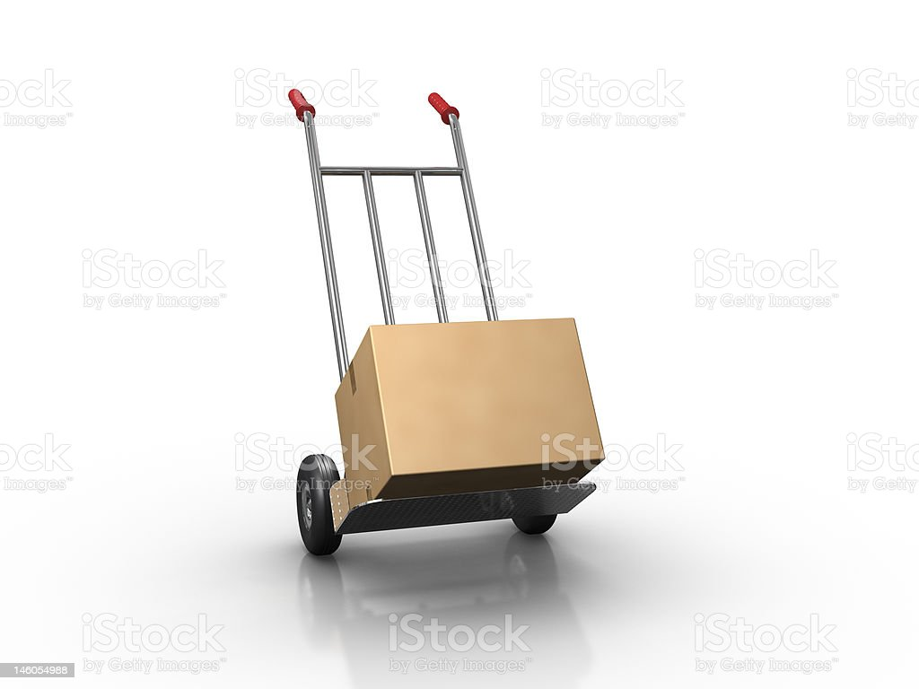 Hand truck royalty-free stock photo