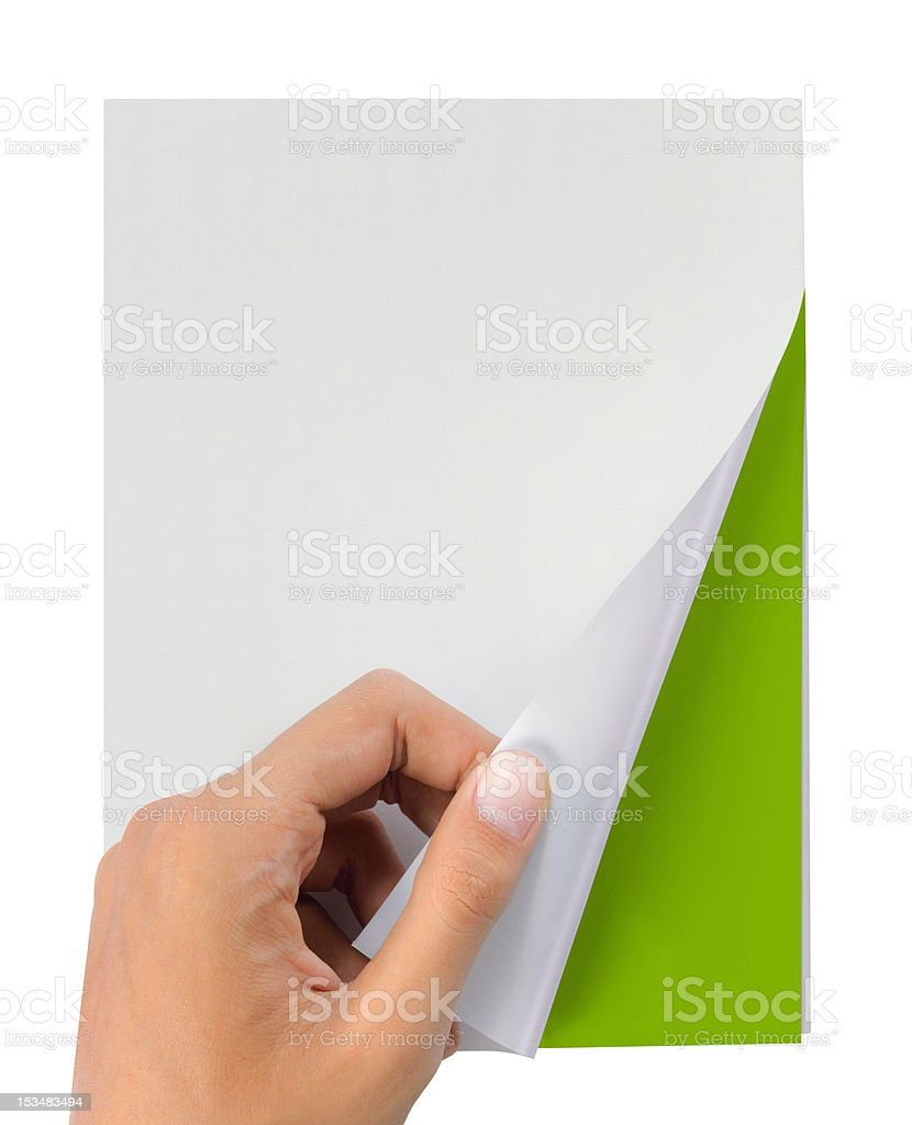 hand turn page of book stock photo