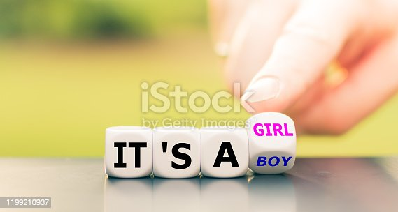 886700726 istock photo Hand turns a dice and changes the expression