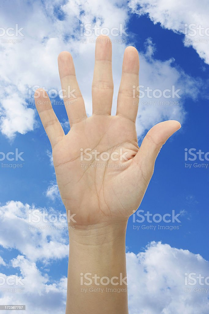 Hand up royalty-free stock photo