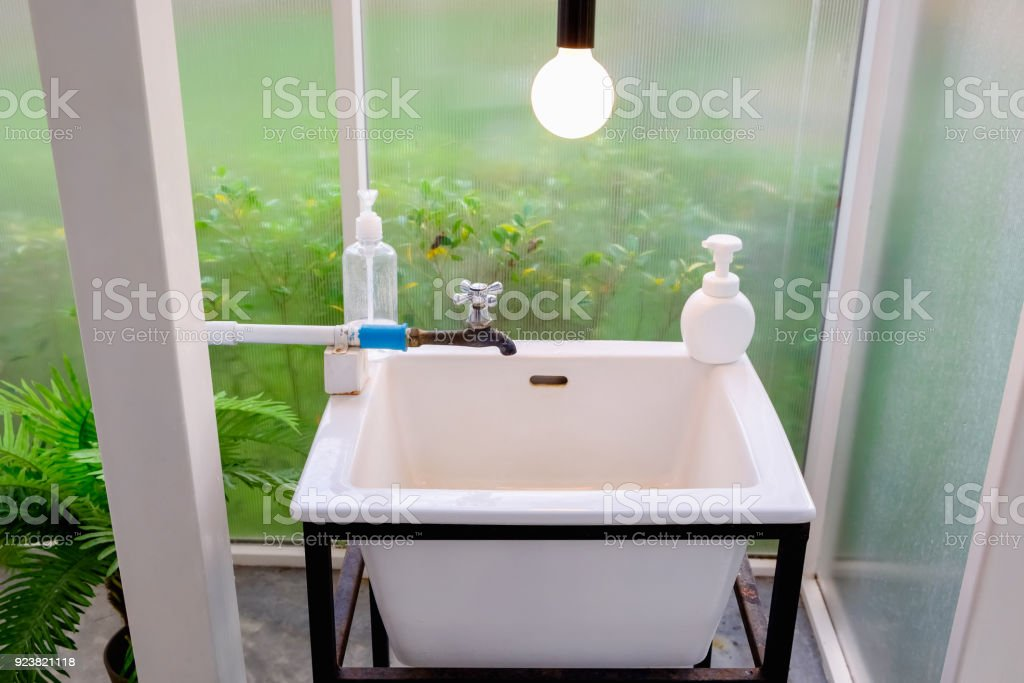 Hand Washing Basin Stock Photo & More Pictures of Bathroom | iStock