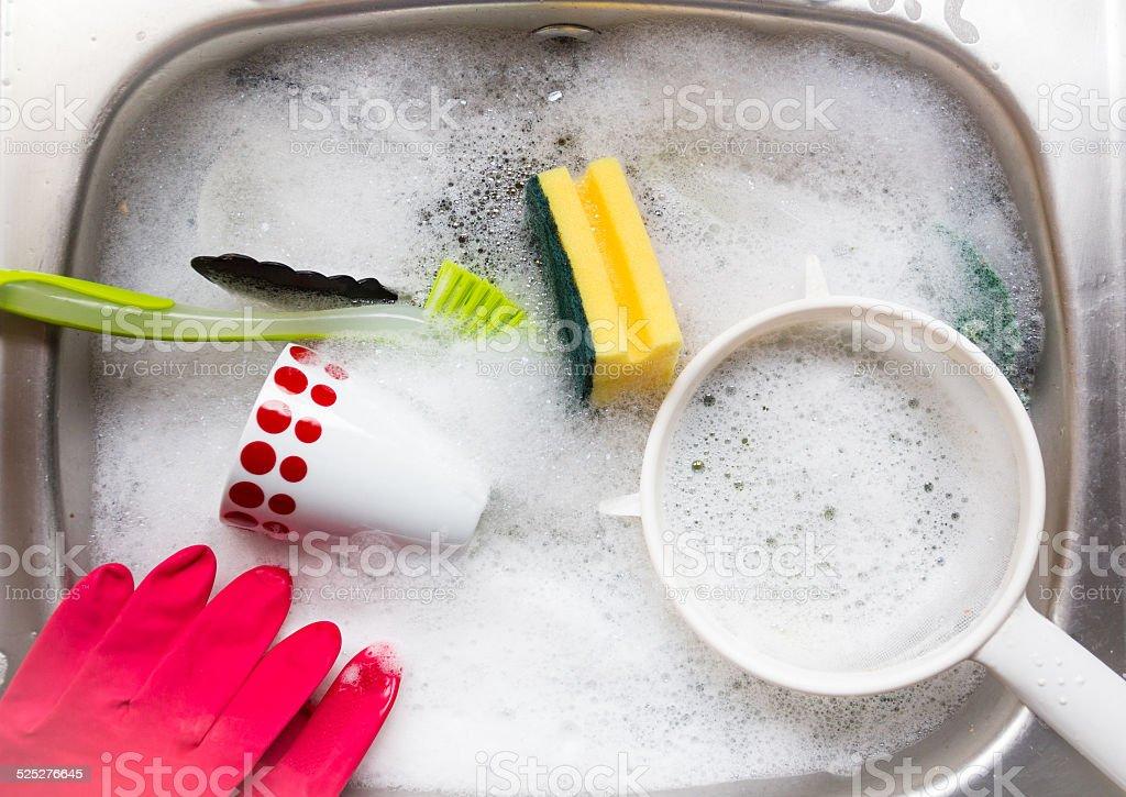 Hand washing up. foto