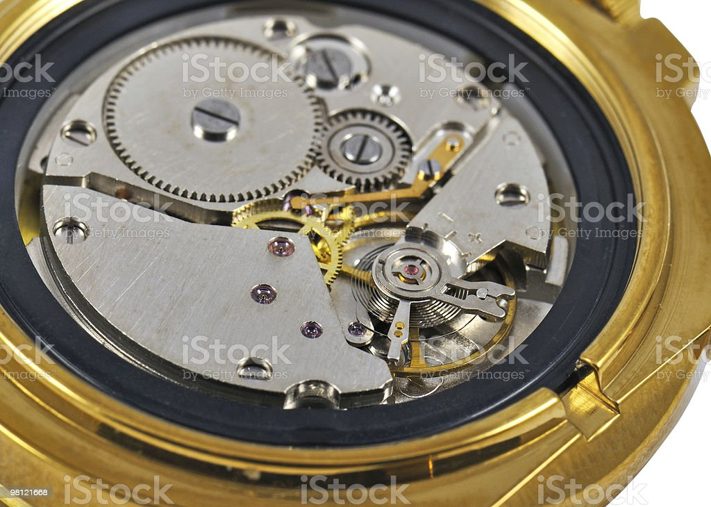 Hand Watch Mechanism royalty-free stock photo