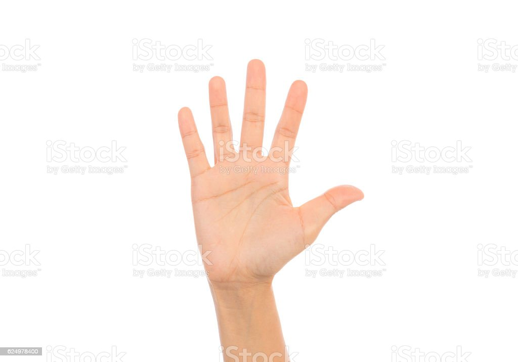 Hand Waving Stock Photo & More Pictures of Cut Out | iStock