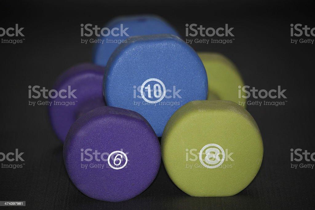 Hand Weights - Set of Three stock photo