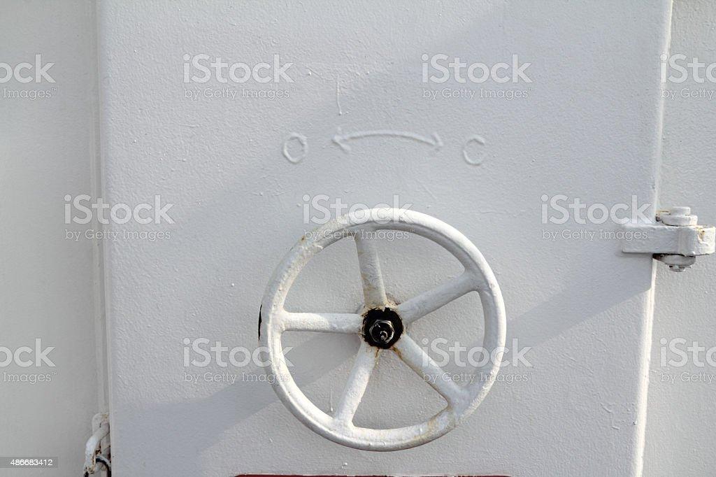 hand wheel stock photo