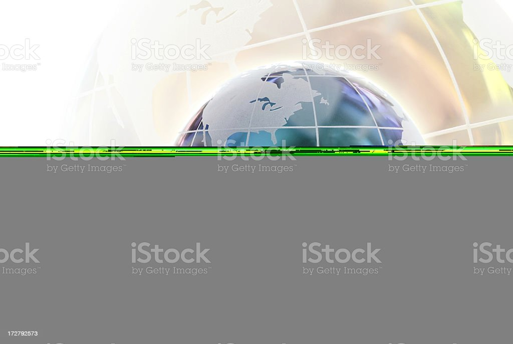 Hand with a Globe on white background royalty-free stock photo
