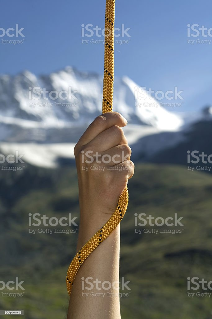 Hand with a rope #2 royalty-free stock photo