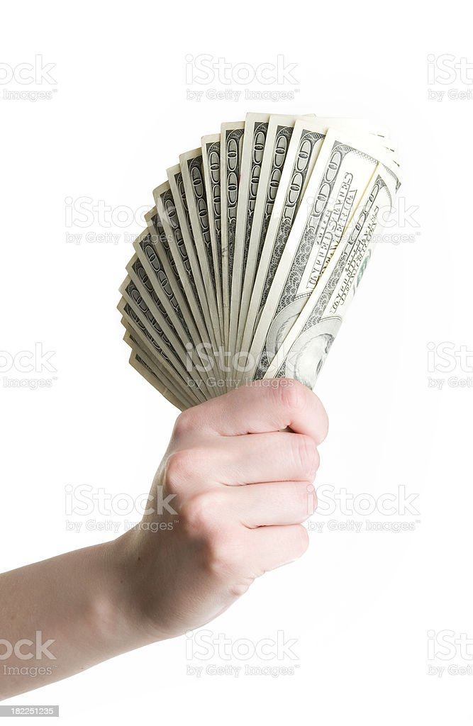 Hand with banknotes royalty-free stock photo