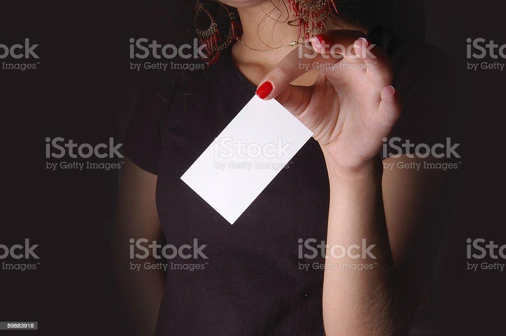Hand mit business-Karte Lizenzfreies stock-foto