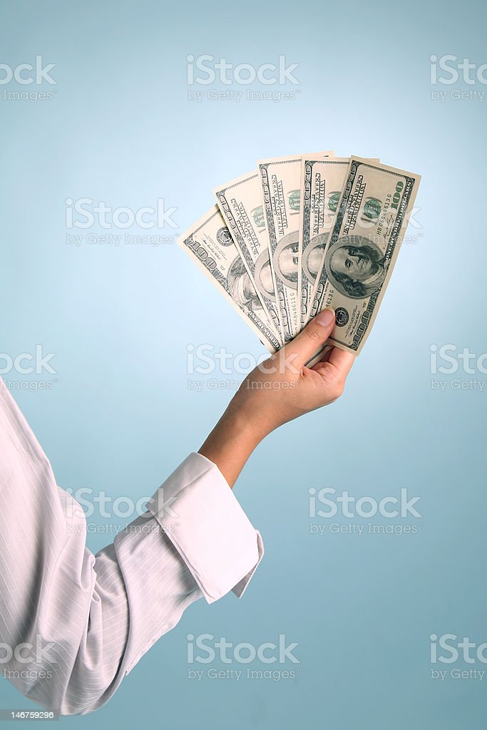 Hand with Cash royalty-free stock photo